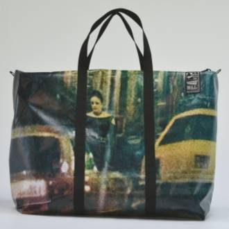Recycled Billboard Bag - large gear 30491