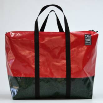 Recycled Billboard Bag - large gear 30493