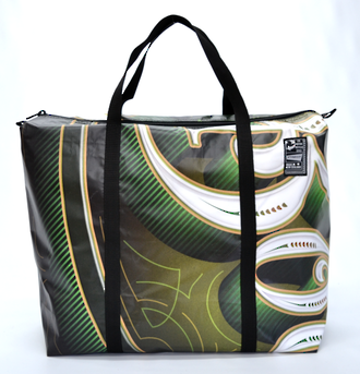Recycled Billboard Bag - large gear 30568