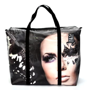 Recycled Billboard Bag - large gear 30571