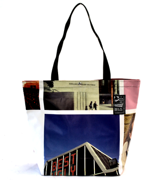 Recycled Billboard Bag - tote 40062