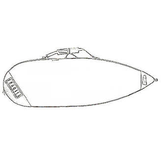 Shortboard Bag - Extra Wide Blank 50004
