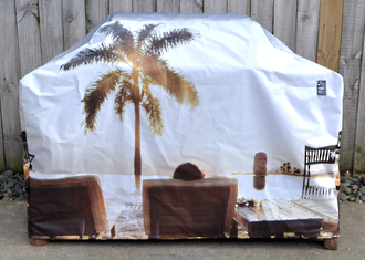 Hooded BBQ Cover Recycled Billboard Medium 80106