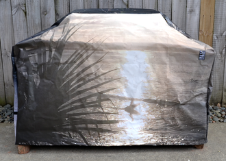 Hooded BBQ Cover Recycled Billboard Medium 80107