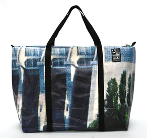 Recycled Billboard Bag - large gear 30592
