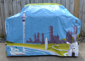 Hooded BBQ Cover Recycled Billboard Large 80115