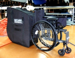 Wheelchair travel bag sized