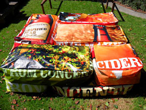 recycled billboard bean bags monteiths 1