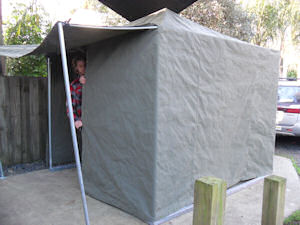 custom tent over frame