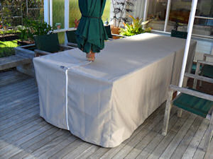 Canvas Outdoor Table Cover With Slot For Umbrella 3