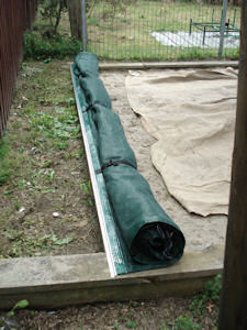 sandpit cover awning tube secured side release clips
