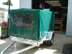 pvc trailer cage cover