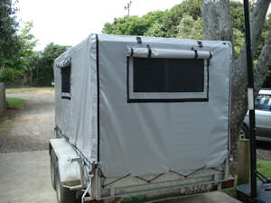 stock trailer cover 2 way windows