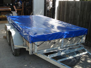 trailer cover flat blue