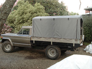 small truck canvas  canopy  cover 1