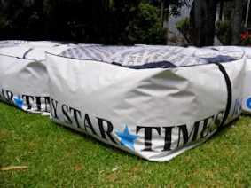 recycled billboard bean bags fairfax 1