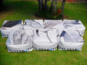 recycled billboard bean bags fairfax 2