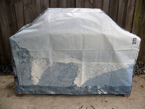 Hooded BBQ Cover Recycled Billboard Medium 80031