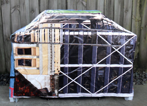 Hooded BBQ Cover Recycled Billboard Medium 80053