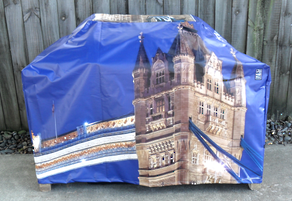 Hooded BBQ Cover Recycled Billboard Medium 80055