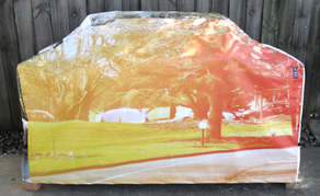 Hooded BBQ Cover Recycled Billboard Large 80066