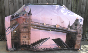 Hooded BBQ Cover Recycled Billboard Large 80069